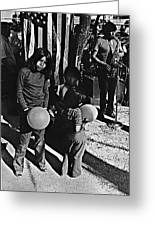 Mexican Day Armory Park Tucson Arizona 1973 Greeting Card