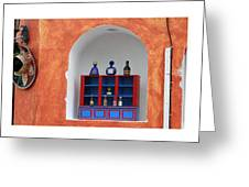 Mexican Facades Greeting Card