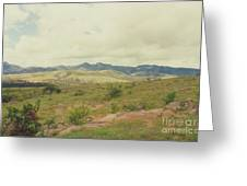 Mexican Mountains Greeting Card
