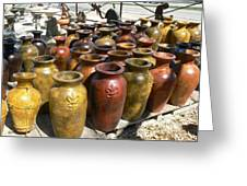 Mexican Pots I Greeting Card