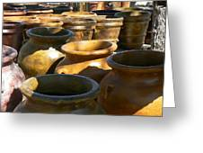 Mexican Pots Iv Greeting Card