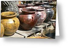 Mexican Pots V Greeting Card