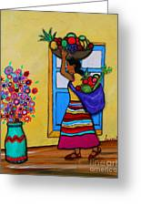 Mexican Street Vendor Greeting Card