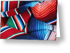 Mexican Textiles Playa Del Carmen Mexico Greeting Card