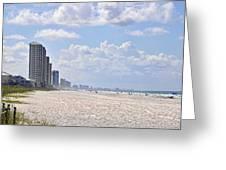 Mexico Beach Coastline Greeting Card