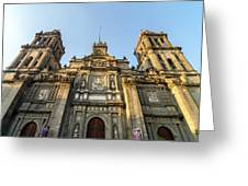 Mexico City Cathedral Facade Greeting Card