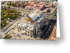 Mexico City Fine Arts Museum Greeting Card by Jess Kraft