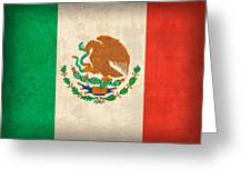 Mexico Flag Vintage Distressed Finish Greeting Card