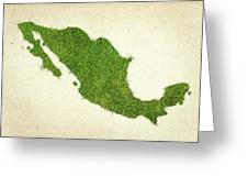 Mexico Grass Map Greeting Card by Aged Pixel