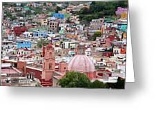 Mexico, Guanajuato, View Of Guanajuato Greeting Card
