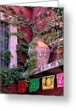 Mexico, San Miguel De Allende, Ivy Greeting Card