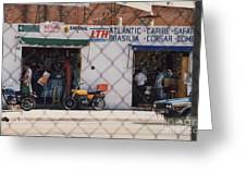 Mexico Tiendas Shops By Tom Ray Greeting Card