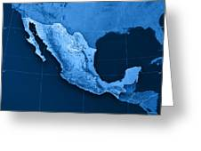 Mexico Topographic Map Greeting Card by Frank Ramspott