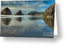 Meyers Creek Sea Stack Blues Greeting Card