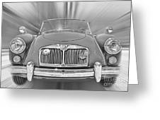 Mg Mga Sports Car Greeting Card