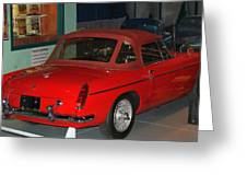 Mg Midget Greeting Card