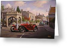 Mg Tc Sports Car Greeting Card