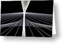 Mhh Calatrava Bridge  Greeting Card by Damon Phillips