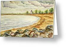 Mi Up Lighthouse Greeting Card