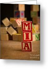 Mia - Alphabet Blocks Greeting Card