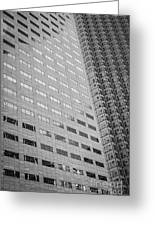 Miami Architecture Detail 1 - Black And White Greeting Card