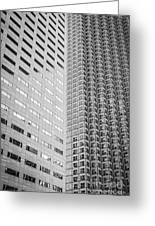 Miami Architecture Detail 2 - Black And White Greeting Card by Ian Monk