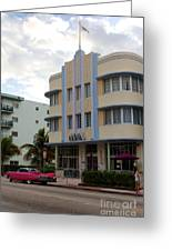 Miami Art Deco Greeting Card