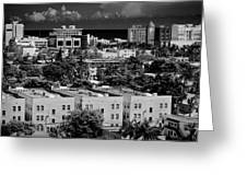 Miami Beach - 0156bw Greeting Card