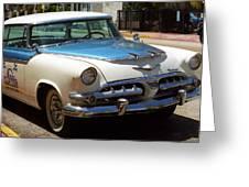 Miami Beach Classic Car 2 Greeting Card