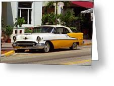 Miami Beach Classic Car Greeting Card