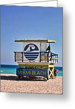 Miami Beach Lifeguard Station Greeting Card