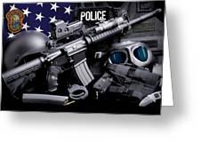 Miami Dade Police Greeting Card