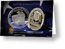 Miami Dade Police Memorial Greeting Card by Gary Yost