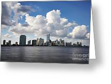 Miami Downtown In Slow Greeting Card by Eyzen M Kim