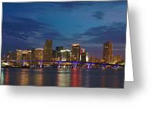 Miami Evening Greeting Card