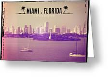 Miami Florida Greeting Card