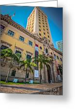 Miami Freedom Tower 1 - Miami - Florida Greeting Card by Ian Monk