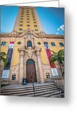 Miami Freedom Tower 2 - Miami - Florida Greeting Card