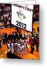 Miami Heat Championship Banner Greeting Card