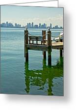 Miami In The Distance Greeting Card