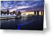 Miami Night Greeting Card