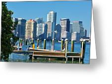 Miami On The Docks Greeting Card