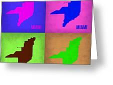 Miami Pop Art Map 1 Greeting Card
