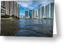 Miami River Kayakers Greeting Card