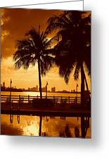 Miami South Beach Romance II Greeting Card