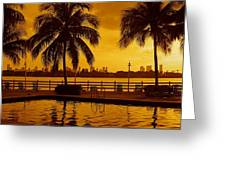 Miami South Beach Romance Greeting Card