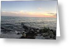Miami Sunset Greeting Card