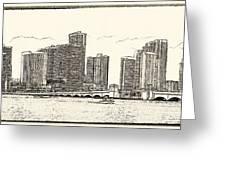 Miami - Venetian Causeway Greeting Card