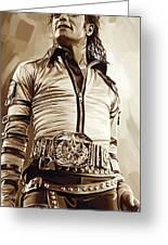 Michael Jackson Artwork 2 Greeting Card by Sheraz A