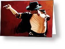 Michael Jackson Artwork 4 Greeting Card by Sheraz A
